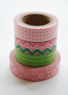 Washi Tape Set 15mm Combination AY Green and Pink por InTheClear