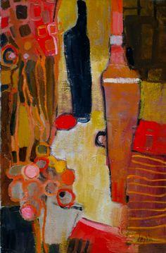 nature morte. Peinture à l'huile. Art contemporain.