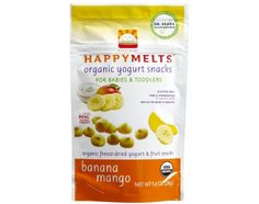 Need a healthy low-sugar snack that'll melt in your baby's mouth while offering up protein, prebiotics and probiotics? These delicious freeze-dried organic fruit and yogurt treats will be your new go-to. Free of wheat, soy, tree nuts, GMO's, & gluten. http://www.abesmarket.com/natural-products/baby-and-kids/feeding/natural-organic-baby-food-formula/happy-baby-organic-yogurt-melts-banana-mango-banana-mango-1-oz.html