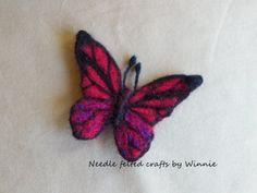 Nadel Gefilzte Schmetterling Brosche die von FunFeltByWinnie