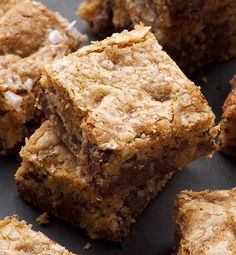 Fleur de Sel Chocolate Chip Blondies ~ http://www.bakeorbreak.com