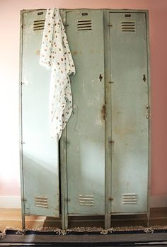 This is perfect for any room in the house as each room needs to have a functional space such as these lockers in room used as storage.