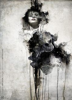 Black and White Abstract Paintings | abstract, art, black and white, creative, drawing, drips - image ...