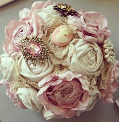 fabric flowers Love is Vintage Bouquets