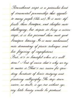 Worksheets How To Write Pretty Cursive Handwriting lovely penmanship sample from fpn member jgrasty paper and pens copperplate is more demanding of precise technique the fountain pen network calligraphy sampleclassic