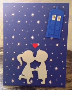 Dr. Who card made with the Silhouette Cameo