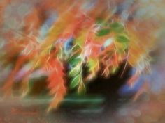 Fine Art Print, 12x9 titled Turning, Autumn leaves changing color, textured, bokeh  ©  2015 KD Gruhn Artistry  All Rights Reserved