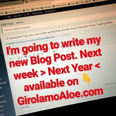http://girolamoaloe.com 10 Awesome Tips you see in the world that are the most Valuable #Forex Trading Rules LINK IN BIO   I am a Trader of #ProfitingMe  #SupplyAndDemand #Trading  #ForexMentor #Trading #Futures #Indexes #Forex #Stocks #Commodities #PriceAction #WallStreet #Stockstrader #Forextrader #ForexTrading #ForexLifestyle #ForeignExchange #TraderLifestyle #StockMarket #ForexMarket #ForexLife #ForexSignals #TechnicalAnalysis #CurrencyTrader #CurrencyAnalyst #SwingTrading #SwingTrader…
