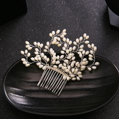 Aliexpress.com : Buy Silver Pearls Bridal Hair Combs Wedding Hair Accessories Handmade Women Headwear Hair Jewelry Comb from Reliable accessory row jewelry suppliers on Jonnafe Store