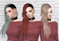 Fenty Hair Recolor for The Sims 4