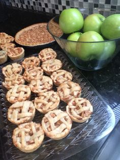 When you have too many apples...you make mini apple pie!