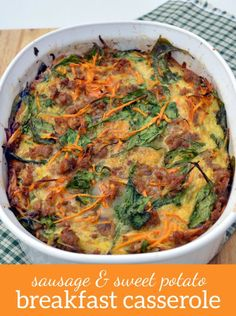 Paleo Sausage and Sweet Potato Breakfast Casserole. Perfect Whole30 breakfast to feed a hungry crowd!
