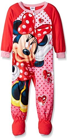 c1a0130b53 Disney Little Girls  Minnie Mouse Such A Gem Footed Blanket Sleeper   Visit  the image
