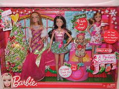 Barbie Doll 2011 A Perfect Christmas Skipper Kelly Stacie and Stage