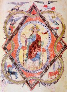 Turismo Prerrománico Medieval, Illuminated Manuscript, Romans, Apocalypse, Vintage World Maps, Bohemian Rug, Painting, Spanish Art, Nun