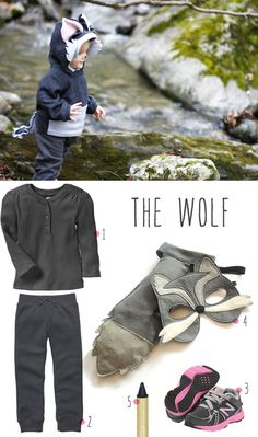 The WOLF to Little Red Riding Hood | Click for 30 DIY Halloween Costumes for Kids to Make | DIY Halloween Costumes for Toddlers