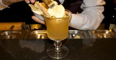HOT APPLE PIE*    ~2 oz Calvados  ~.25 oz Mead  ~.75 oz Apple Juice  ~.25 oz fresh Lemon Juice  ~1 tsp Cinnamon-infused Honey* > Garnish: 2 dried Apple slices and a Cinnamon stick