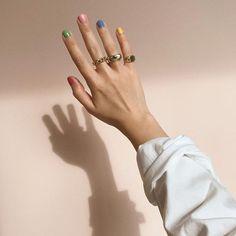 """Nails inspired by David Hockney's """"A Bigger Splash"""" 🌞🌴💖💦 Cute Acrylic Nail Designs, Best Acrylic Nails, Minimalist Nails, Nail Swag, Funky Nails, Cute Nails, Dream Nails, Nagel Gel, Stylish Nails"""