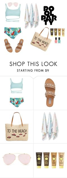 """POOL PARTY"" by marthazz11 on Polyvore featuring Boohoo, Steve Madden, Style & Co., Kassatex, Sun Bum and Deborah Lippmann"