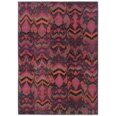 $399.00 Kaleidoscope Blue/Pink Abstract Area Rug