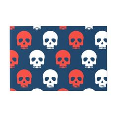 Halloween Trick or Treat Cute Skulls. Add Name. Guest Book #halloween #holiday #creepyhollow #cards #postage