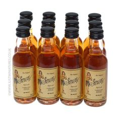Mini Bottles of rum for all the adult wedding guests.