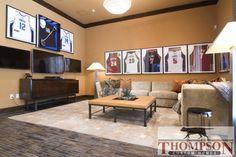 Framed jerseys- cute idea for sons sports bedroom