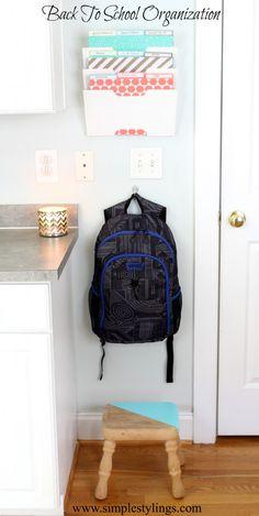 Back To School Paper Clutter Organization www.simplestylings.com