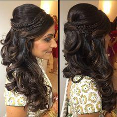 Latest Indian Wedding Hairstyles 2016-2017 - DashyMedia                                                                                                                                                                                 More