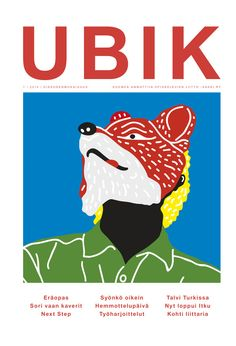 Illustration by Toni Halonen Cover for Ubik magazine