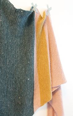 piipadoo: as you persecute them already correctly - the most lovely lovely garter scarf and instructions for knitting it Garter, Plus Belle, Knitting, Crochet, Comme, Trends, Beautiful, Sewing, Simple