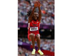 Brittney Reese lunges for Gold medal and Janay DeLoach grabs Bronze medal in Women's Long Jump.