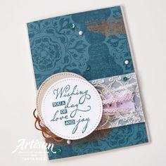 Stampin' UP! Artisan Design Team Blog Hop - Woven Threads Designer Series Paper