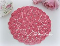 This is a pattern for a small size doily (about 9 inches across after blocking) made with crochet cotton thread size 10 and mm steel hook. Free Crochet Doily Patterns, Crochet Symbols, Crochet Designs, Crochet Doilies, Crochet Flowers, Crochet Ideas, Crochet Stitches, Free Pattern, Crochet Cross