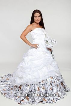 Realtree Camo Halter Wedding Gowns - Love wildly. | Camo Weddings ...