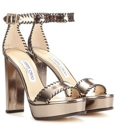 Jimmy Choo Holly 120 Platform Patent Leather Sandals For Spring-Summer 2017
