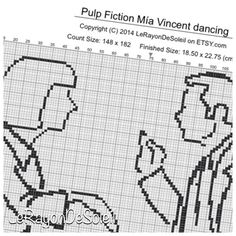 Modern cross stitch pattern Pulp Fiction Mia by LeRayonDeSoleil