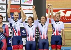 The women's pursuit team of Joanna Rowsell-Shand, Laura Trott, Elinor Barker and Ciara Horne took bronze