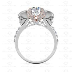 'AILES DE L'AMOUR' 1.80CT WHITE DIAMOND STERLING SILVER ENGAGEMENT RING