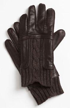 BOSS Black 'Hosky' Leather Gloves