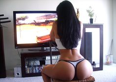 OMG ... not only sexy as hell .. but playing xbox too ...  I told you there was a heaven..