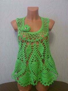 Free crochet patterns and video tutorials: How to crochet summer top free pattern
