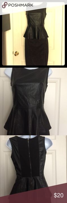 Bershka collection Faux leather peplum top This is a NWOT BLACK PEPLUM TOP Faux leather pencil skirt sold separately this really beautiful together worn one time sexy & office apparel or club wear look a million bucks in this great top @ a fraction of the price Bundle skirt and top & get 20% off Bershka Tops Blouses