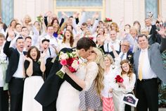 Gilbert Temple Wedding // Arizona Wedding // LDS Wedding // Modest Wedding Dress // Temple Exit