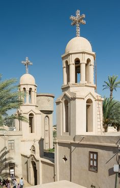 Paromeos Monastery, a Coptic Orthodox monastery located in Wadi El Natrun, Egypt. Life In Egypt, Egypt Today, Nile River, Church Architecture, Old Churches, Church Building, Religious Art, Countries Of The World, Travel Posters