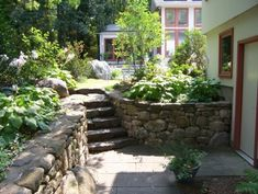 Backyard, walk out basement idea if we need retaining walls