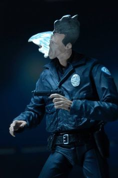 "ToyzMag.com » Terminator 2: Judgement Day – Ultimate 7″ Scale ""Motorcycle Cop"" T-1000"
