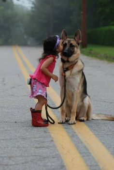 This is how I picture our future human children with our furry children. German Shepherds are so amazing