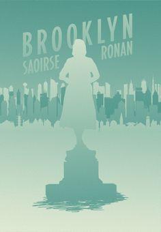 Brooklyn (2015) ~ Minimal Movie Poster by berni27 ~ Oscars 2016 Nominees #amusementphile