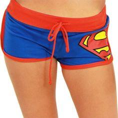 Bioworld Juniors Girls DC Comics Booty Shorts - X-Large - Superman Nananana Batman, Batman Wonder Woman, Summer Outfits, Cute Outfits, Cute Shorts, Pj Shorts, Grey Fashion, Gym Shorts Womens, Clothes For Women